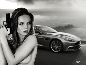 Art work: Gonzalo Villar - Model:Kristina Yakimova - Photo of model: Svetlana Kondratovich